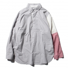 ....... RESEARCH | Cricket Shirt - Gingham Check - Gray
