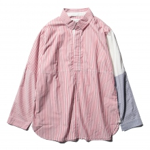 ....... RESEARCH | Cricket Shirt - London Stripe - Red