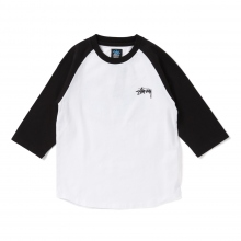 STUSSY KIDS / ステューシー キッズ | Kids Global Designs Raglan - Black ★