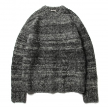 AURALEE / オーラリー | WOOL ALPACA FELT KNIT KNIT P/O - Mix Black