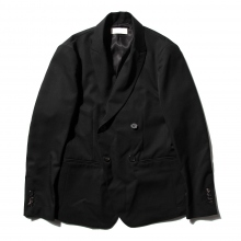 NEON SIGN / ネオンサイン | DOUBLE BREASTED JACKET GABARDINE - Black
