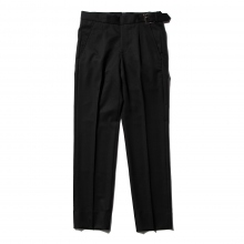 NEON SIGN / ネオンサイン | SIDE ADJUSTER SLACKS GABARDINE - Black