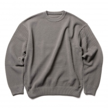 crepuscule / クレプスキュール | moss stitch L/S sweat - Gray