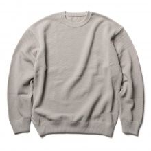 crepuscule / クレプスキュール | moss stitch L/S sweat - L.Gray