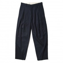 URU / ウル | COTTON RAYON 1 TUCK PANTS - Navy