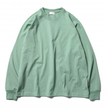 URU / ウル | COTTON L/S TEE - E.Green