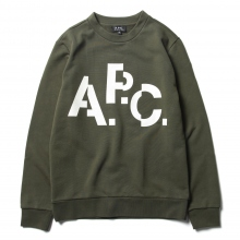 A.P.C. / アーペーセー | Décalé スウェット - Military Khaki