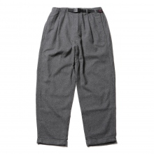 GRAMICCI / グラミチ | WOOL BLEND TUCK TAPERED PANTS - Heather Charcoal
