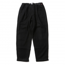 GRAMICCI / グラミチ | WOOL BLEND TUCK TAPERED PANTS - Black