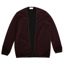 FLISTFIA / フリストフィア | Piping Cardigan - Burgundy
