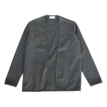 FLISTFIA / フリストフィア | Piping Cardigan - Charcoal Gray