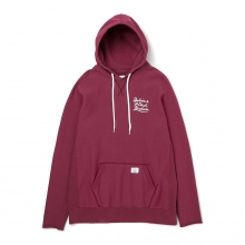 BEDWIN / ベドウィン | L/S F-SLEEVE HOODED SWEAT 「DAVID」 - Burgundy