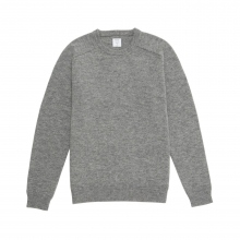 Mr.GENTLEMAN / ミスタージェントルマン | CREW NECK KNIT - Grey