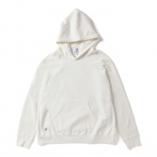HABANOS / ハバノス | BIG HOODED SWEAT PARKA - White