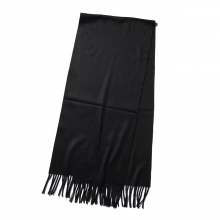 AURALEE / オーラリー | CASHMERE NARROW STOLE - Black