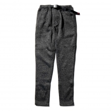 GRAMICCI / グラミチ | BONDING KNIT FLEECE SLIM PANTS - Charcoal × Black