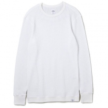 BEDWIN / ベドウィン | L/S C-NECK THERMAL T 「GREEN」 - White