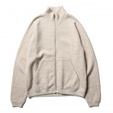 URU / ウル | COTTON YAKWOOL / ZIP UP SWEAT - Beige