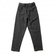 URU / ウル | WOOL DENIM / 5 POCKET PANTS - Black