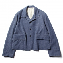URU / ウル | WOOL DENIM / 4 BUTTON JACKET - Indigo