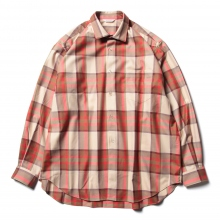 WELLDER / ウェルダー | WELLDER Standard Shirt - Beige × Red