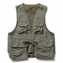 ENGINEERED GARMENTS / エンジニアドガーメンツ | Game Vest - Double Cloth - Olive ☆