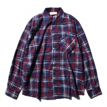 NEON SIGN / ネオンサイン | FLANNEL SHIRT UNIVERSAL CHECK - Navy