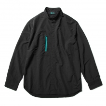 Reft / レフト | CLASSIC STAND COLLAR LONG SLEEVE SHIRT - Black