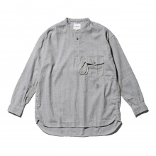 and wander / アンドワンダー | thermo nell stand collar shirt (M) - Gray
