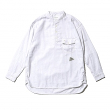 and wander / アンドワンダー | thermo nell stand collar shirt (M) - Off White