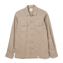 BEDWIN / ベドウィン | L/S MILITARY SHIRT 「CLIFF」 - Beige