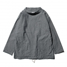 ENGINEERED GARMENTS | EG Workaday Smock Popover - Heavy Cotton Chambray - Indigo