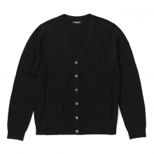 Meticulous Knitwear | Woodstock Cardigan - Solid / Floral Stitch - Navy