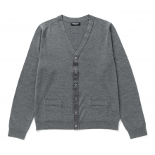 Meticulous Knitwear | Woodstock Cardigan - Solid / Reversed - Grey