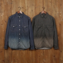 GOODENOUGH / グッドイナフ|GRADIENT CABLE DENIM SHIRT