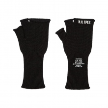 N.HOOLYWOOD / エヌハリウッド | 992-AC02-pieces FINGERLESS KNIT GLOVE - Black