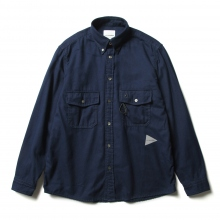 and wander / アンドワンダー | thermonel shirt (M) - Navy