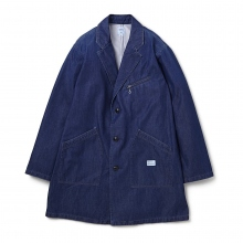 BEDWIN / ベドウィン | DENIM SHOP COAT FD 「BASQUIAT」 - Indigo
