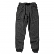 GRAMICCI / グラミチ | BONDING KNIT FLEECE NARROW RIB PANTS - Charcoal × Black