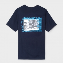 STUSSY / ステューシー | Sounds System Tee - Navy