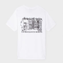 STUSSY / ステューシー | Sounds System Tee - White