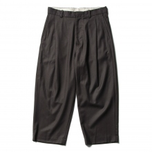 URU / ウル | WOOL 1 TUCK PANTS - Charcoal
