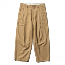 URU / ウル | WOOL 1 TUCK PANTS - Camel