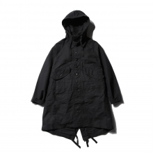 ENGINEERED GARMENTS | Highland Parka - Cotton Double Cloth - Black