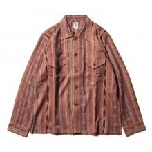 South2 West8 / サウスツーウエストエイト | Smokey Shirt - Cotton Cloth / Ikat Pattern - Brown ☆
