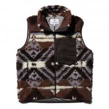 HABANOS / ハバノス | RETRO BOA VEST - Brown