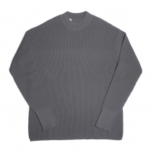 N.HOOLYWOOD / エヌハリウッド | 972-KT01-067 pieces MOCK NECK KNIT - Gray