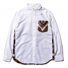 HABANOS / ハバノス | RETRO PILE BOA B.D SHIRTS - White