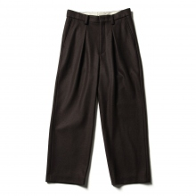 URU / ウル | WOOL PONCH / 1 TUCK PANTS - Brown