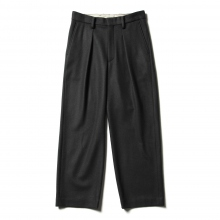 URU / ウル | WOOL PONCH / 1 TUCK PANTS - Charcoal